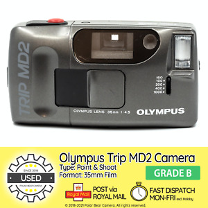 ⭐TESTED⭐ Olympus Trip MD2 Point & Shoot Compact 35mm Film Camera [GRADE B]