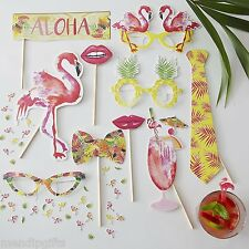 Flamingo Fun Photo Booth Props Tropical Hawaiian Summer Hen Party Accessories