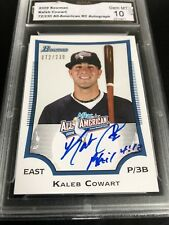 Kaleb Cowart AFLAC All-american Auto 2009 Bowman #AFLAC-KC 72/230 Graded 10 💎