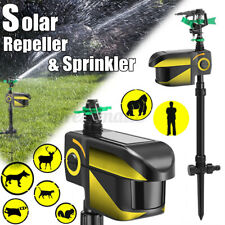 Solar Powered Motion Sensor Activated Animal Repeller Repellent Water Sprinkler