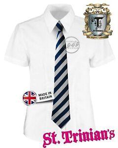 WCT - ST TRINIAN'S SCHOOL TIES!! Navy Blue/Grey Stripe Fancy Dress