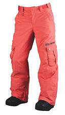 BRAND NEW + TAG BILLABONG 'BEOBBLE' GIRLS SIZE (10) KIDS SKI SNOW PANT CORAL