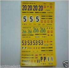 PORSCHE 908/2 LONG TAIL 1969 5 VERSIONI DECALS 1/43