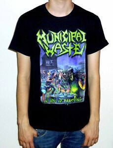 """Municipal Waste """"The Art Of Partying"""" Black Tshirt"""