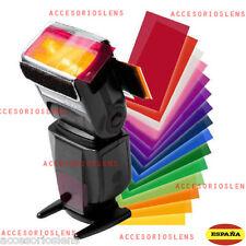 Kit filtri da gel,12 COLORI Strobist per Flash Nikon,Canon,Yongnuo,Nissin