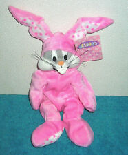 "WARNER BROTHERS STUDIO STORE BUGS BUNNY EASTER BUNNY SUIT 10"" PLUSH BEAN BAG"