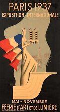 BERNARD VILLEMOT Original Vintage 1937 Color Poster