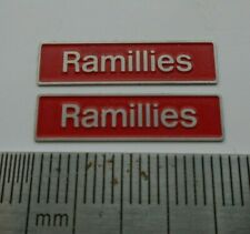 More details for 50019 ramillies. o gauge etched 7mm scale nameplates. self adhesive. red b/g