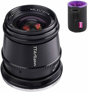 TTartisan 17mm F1.4 81° Wide-Angle Clicked Aperture Lens For Sony E-Mount Camera