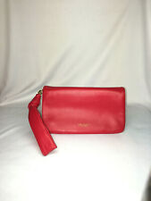 TORY BURCH NEW YORK RED LEATHER CLUTCH