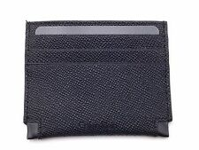 $75 CALVIN KLEIN MENS BLACK SAFFIANO LEATHER 6CC ID CREDIT CARD CASE WALLET