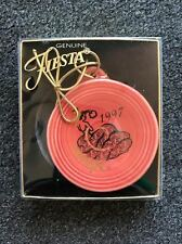 3 Genuine Fiesta Ware Christmas Ornament 1997 1998 Homer Laughlin Fiestaware