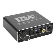 192KHz Audio Decoder Digital to Analog Converter Adapter 3.5mm Coaxial Toslink