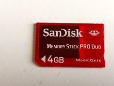 SanDisk Memory Stick PRO Duo 4GB Memory Stick PRO Duo Card - SDMSPD-4096-A11