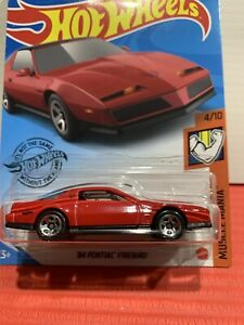 Hot Wheels 84 Pontiac Firebird (red) MUSCLE MANIA 4/10 SEALED UNOPENED 224/250 !