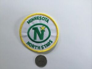 """Minnesota North starsVintage Embroidered Iron On Patch Patch 3"""" X 3"""" NHL"""