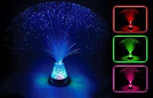 Sensory Colour Changing Fibre Optic Lamp Crystal Light Up Mood Lamp