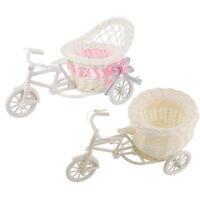 EG_ White Tricycle Bike Design Flower Basket Vase Storage Wedding Party Home Hea