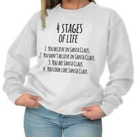 Stages of Life Santa Claus Christmas Holiday Crewneck Sweat Shirts Sweatshirts