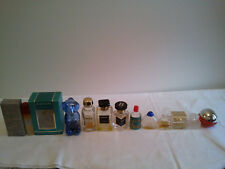 Bulk Lot Of 12 Vintage Used Miniature  Perfumes Collection Fragrance