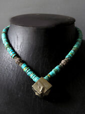 Beautiful Antique Natural Turqouise Necklace with Pendant Cheap Don't Miss