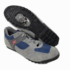 Specialized Mens Gray Blue Mountain Cycling Shoes Size 42 EU 9 US $275