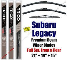 Wipers 3pk Premium Front + Rear - fit 1995-1999 Subaru Legacy - 19210/190/30150