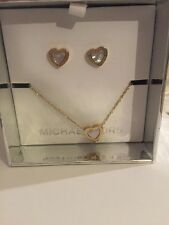 Michael Kors Mother of Pearl Necklace & Stud Earrings Set Mkj5426710