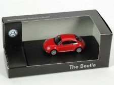 VERY RARE VW BEETLE 5C TSI TDI 2011 COUPE TORNADO RED 1:87 WIKING (DEALER MODEL)