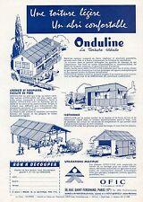 J0654 Onduline OFIC - Paris - Pubblicità d'epoca - 1961 Old advertising