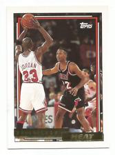 1992-93 Topps Gold #185 Brian Shaw w/ Michael Jordan Chicago Bulls Miami Heat