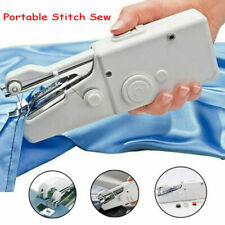 Battery Powered Handheld Sewing Machines Portable Single Stitch Sew Household