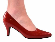 Court Synthetic Leather Cuban Heel Shoes for Women