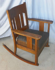 Antique Arts And Crafts Mission Oak Rocker U2013 Original Finish