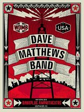 Dave Matthews Band Poster 2015 Southaven MS Signed & Numbered #/750 Rare!!