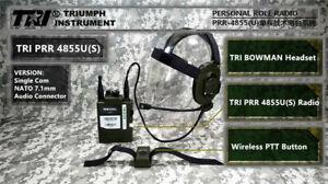 TRI PRR 4855U(S) Single Com NATO Connector Tactical Radio UK Army PRC 148 152