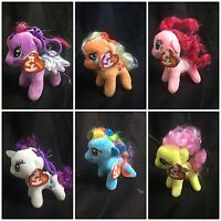 TY My Little Pony Beanie Babies - Key Clip Chain Ring Plush Soft Toy