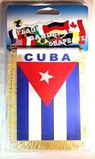 Cuba Mini Banner Flag-Cuba Mini Minnie Banner Flag with Suction Cup-Brand New!