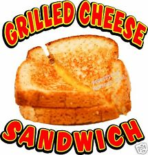 "Grilled Cheese Sandwich Concession Decal 14"" Food Truck Menu Vinyl Sticker"