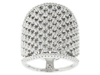 Size 6 - Bella Luce 2.98ctw Round Rhodium Over Sterling Silver Ring