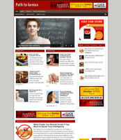 PATH TO GENIUS BLOG & WEBSITE WITH AFFILIATE STORE + FREE DOMAIN AND HOSTING
