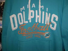 NFL CLASSIC GRIDIRON DOLPHINS HOODED PULLOVER HOODY  GIII  XXL/X XLG  NEW NWT