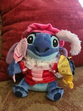 "Disney Plush  STITCH Valentine  Approximately 7"" new with tag"