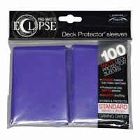 Ultra Pro Matte Deck Protector Sleeves ECLIPSE ROYAL PURPLE  100ct MAGIC POKEMON