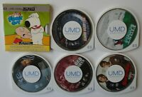 LOT OF 6 UMD VIDEO MOVIES PSP SONY PLAYSTATION PORTABLE BAD BOYS FAMILY GUY