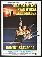 Manifesto Uomini Salvajes William Holden Karl Malden Wild Rovers M67