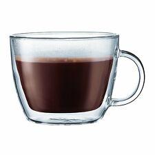 Bodum Bistro Double Paroi Set de 2 Cafe Latte Tasse en Verre, 450 ml