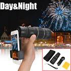 16x52 Zoom BAK4 Monocular Telescope Lens Camera HD Scope Hunting w/ Phone Holder