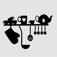 KITCHEN SET Stencil A3 A4 A5 Shabby Craft  Painting Wall Wood  / Cafe10