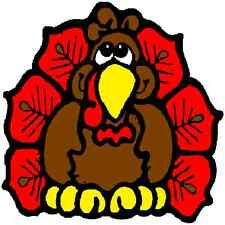 30 Custom Brown Thanksgiving Turkey Personalized Address Labels